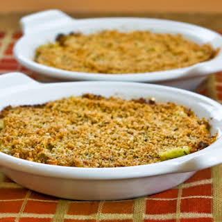 Baked Artichoke Hearts Au Gratin with Green Onion, Parmesan, and Romano.