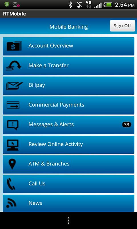 Rockland Trust Mobile Banking - screenshot