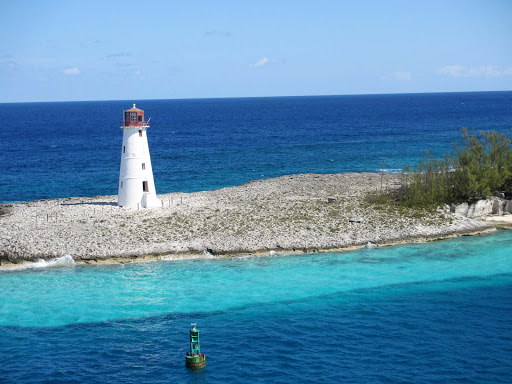 Lighthouse near Nassau, the capital and largest city in the Bahamas.