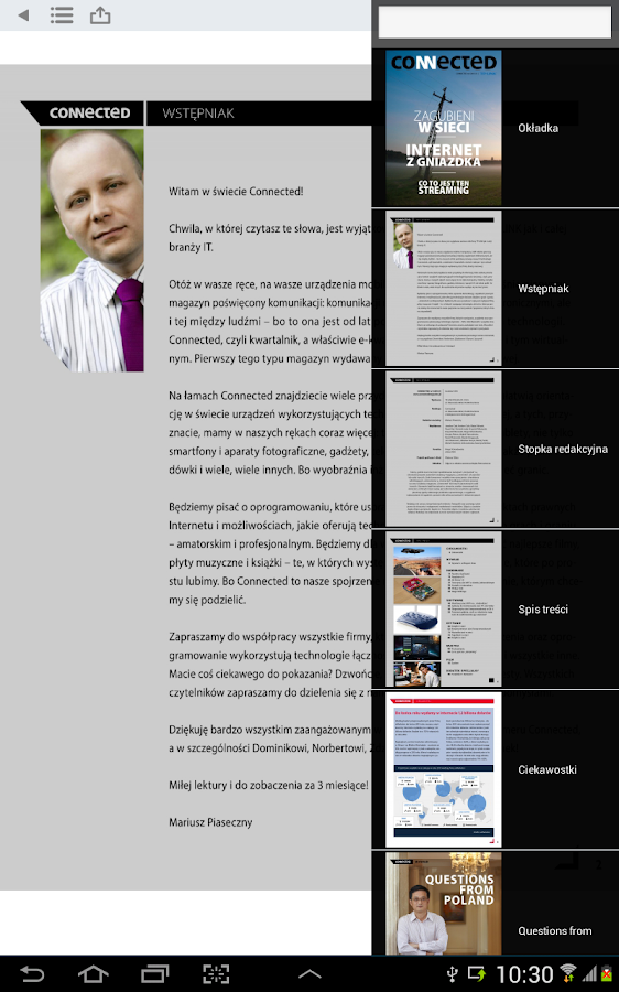 Connected Magazine- screenshot