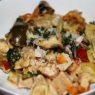 Vegetable Tortellini Alfredo.