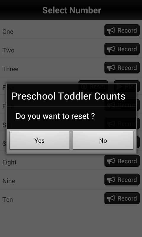 Counting Preschool Toddler - screenshot