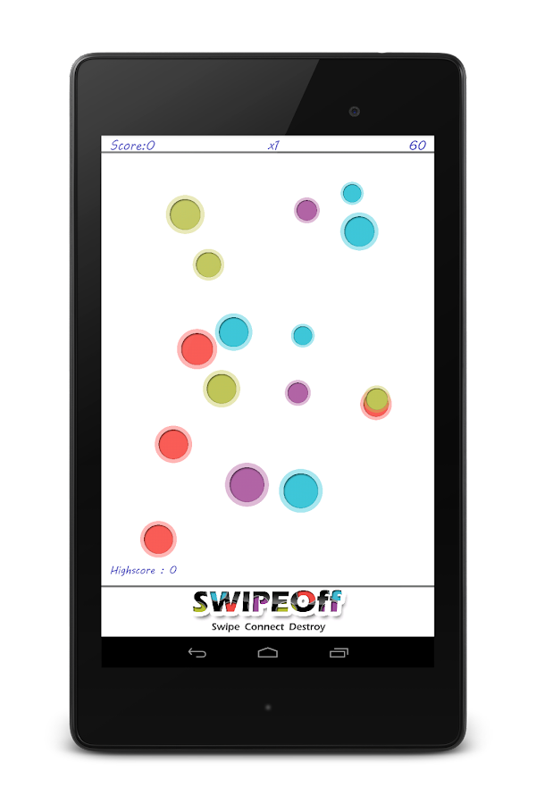 Swipe Off : a moving Dots Game - screenshot