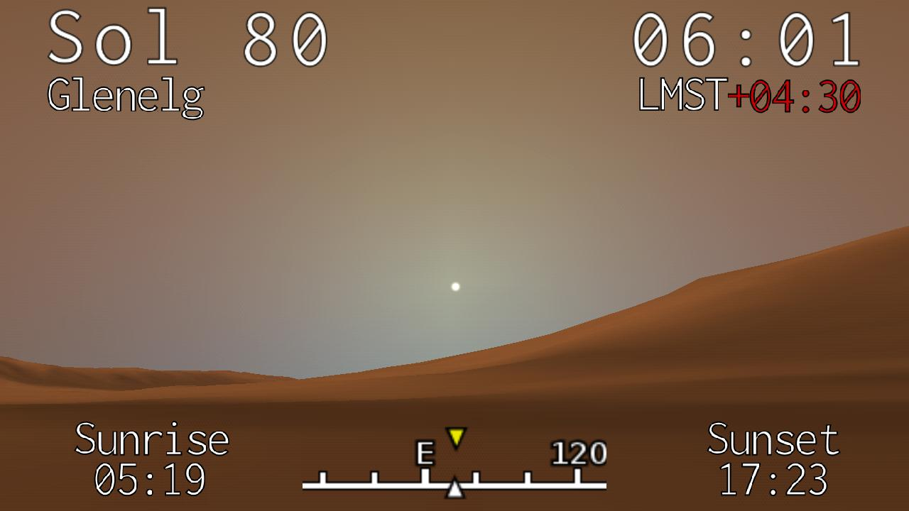 Curiosity Clock - screenshot