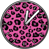 Pink Girly Cute Clocks