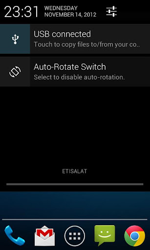 Auto-Rotate Status Bar Switch
