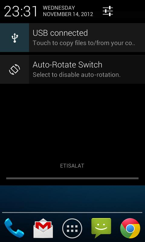 Auto-Rotate Status Bar Switch - screenshot