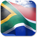 3D South Africa Flag + icon