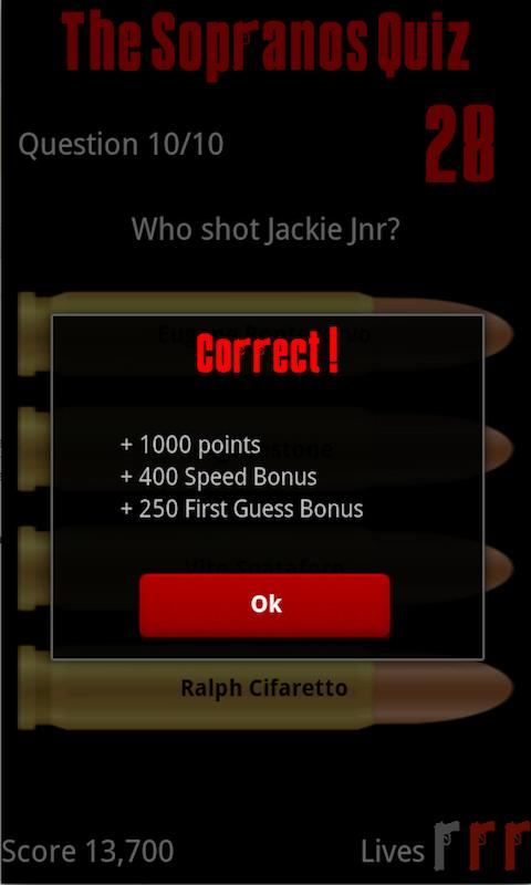 The Sopranos Quiz- screenshot