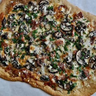 Whole Wheat Fontina Portobello Pizza.
