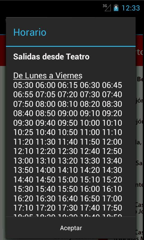 Schedule Guaguas(Buses) LPGC - screenshot