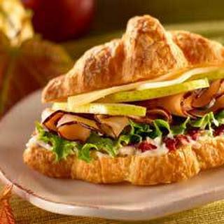 Petite Turkey, Pear & Provolone Croissants.