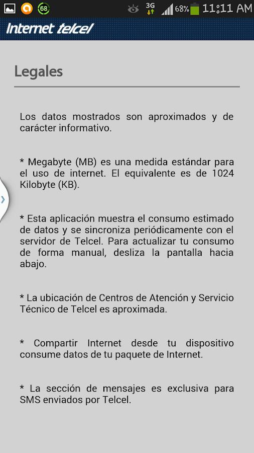 Consumo de Internet - screenshot