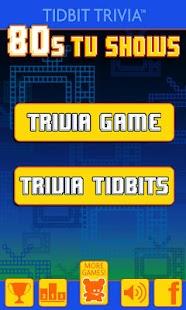 Eighties TV - Tidbit Trivia