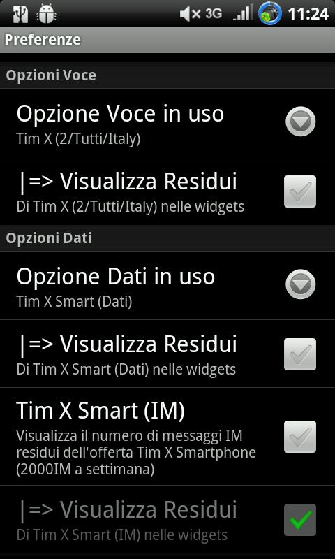 AndroTimWidget Pro via sms - screenshot