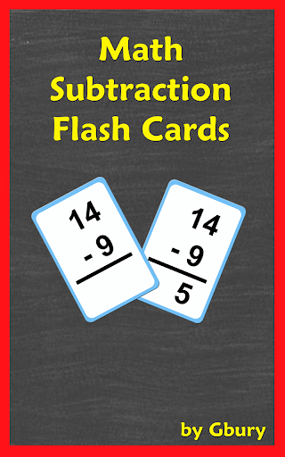 Math Subtraction Flash Cards