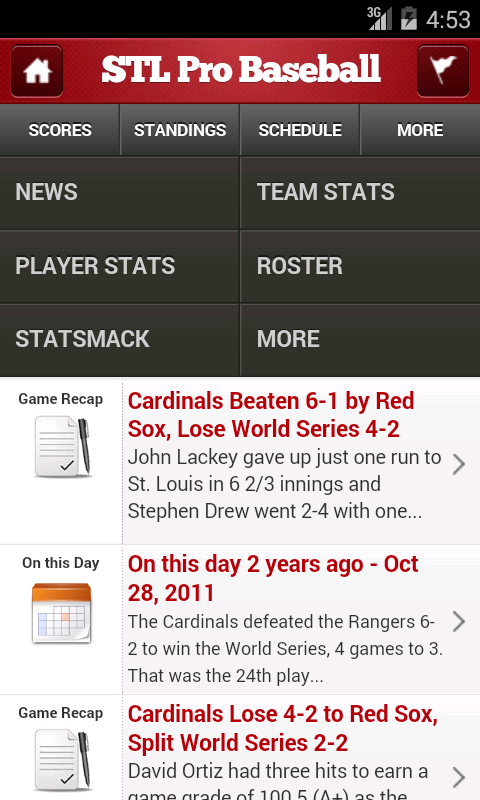 St. Louis Pro Baseball - screenshot