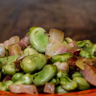 Fava Beans With Bacon Recipe.