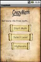 Screenshot of CrazyMath