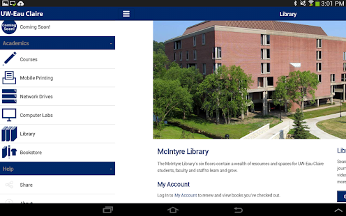 UW-Eau Claire Mobile - screenshot thumbnail