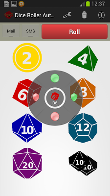 Dice Roller RPG Automails - screenshot