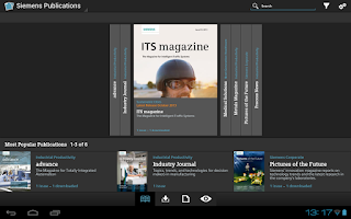 Screenshot of Siemens Publications