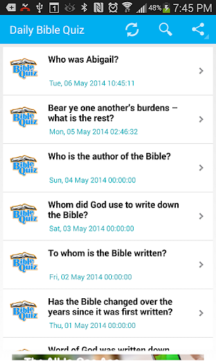 Bible Trivia- Quiz Daily
