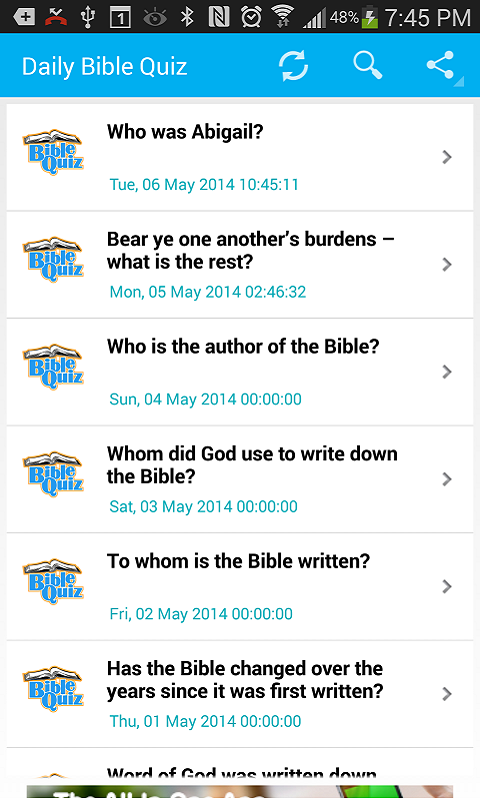 Bible Trivia- Quiz Daily- screenshot