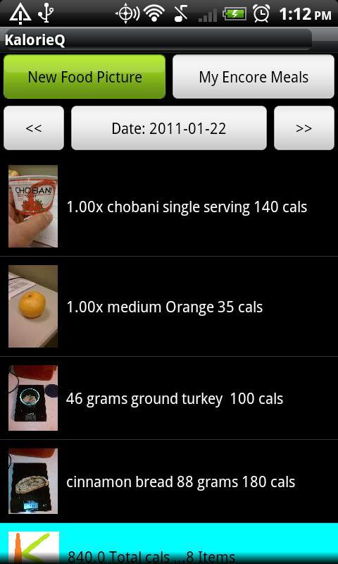 KalorieQ- screenshot