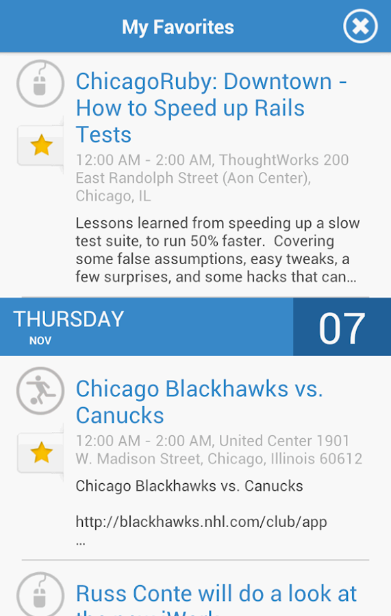 Chicago Events- screenshot