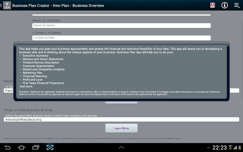 Business plan maker ipad