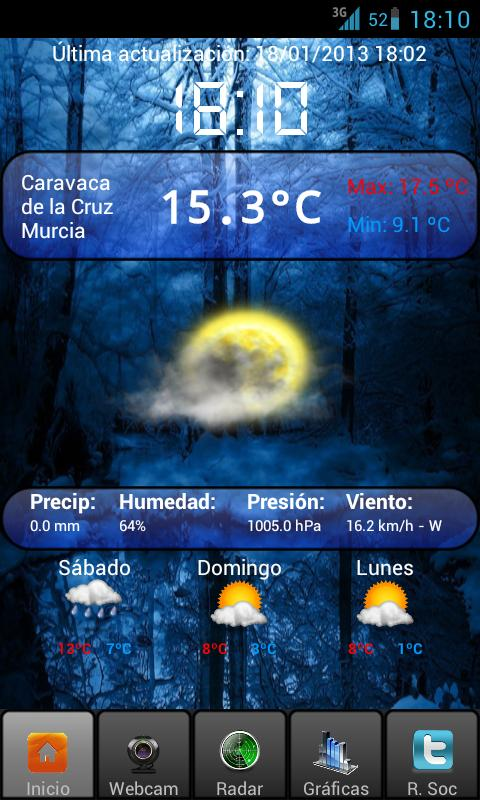 Meteocaravaca - screenshot