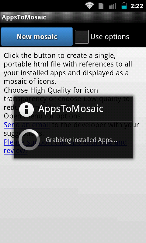 AppsToMosaic - screenshot