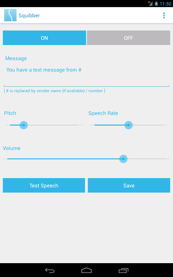 Squibber - SMS Voice Notifier- screenshot
