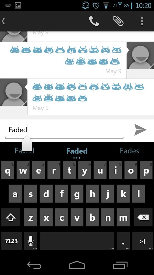 Faded Blue CM11 AOKP Theme- screenshot