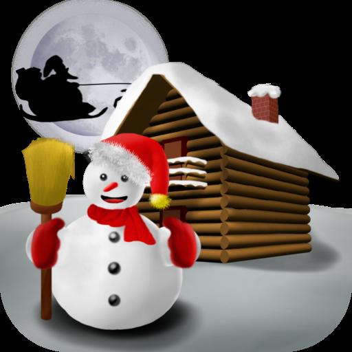 Christmas Snowman - Wallpaper LOGO-APP點子