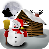 Christmas Snowman - Wallpaper