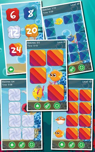 Kids Ocean Memory: Fish Game