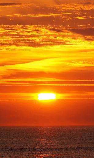 完美的日落動態壁紙