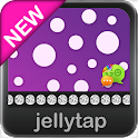 Beautiful Purple Polka Dot SMS icon