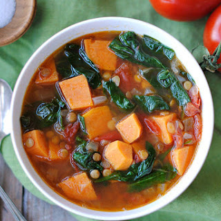 Vegan Sweet Potato and Lentil Soup