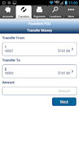 Screenshot of Founders FCU - Mobile Banking
