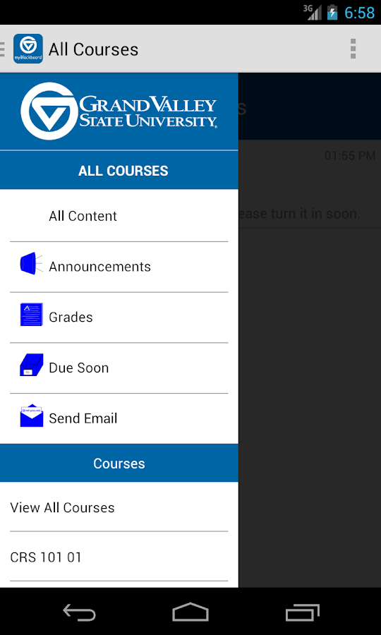 myBlackboard- screenshot