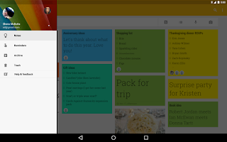 Screenshot of Google Keep
