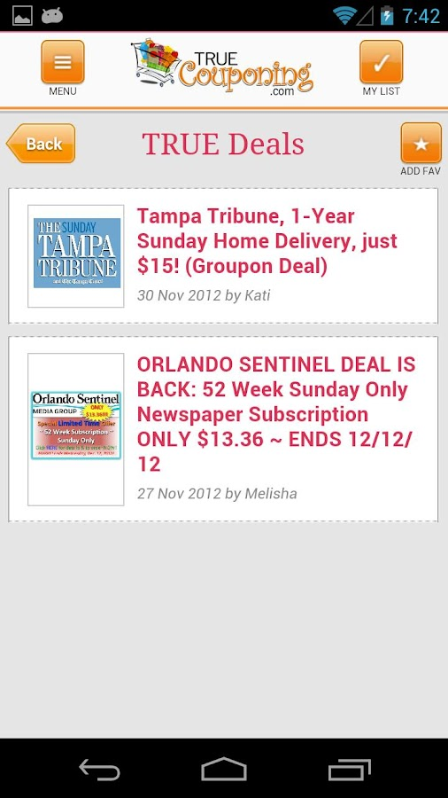 True Couponing - screenshot