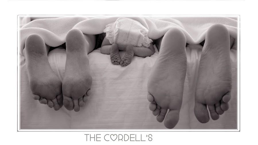 Cordell Family Feet by Diane Eskridge - Typography Captioned Photos ( family, feet, baby, newborn )