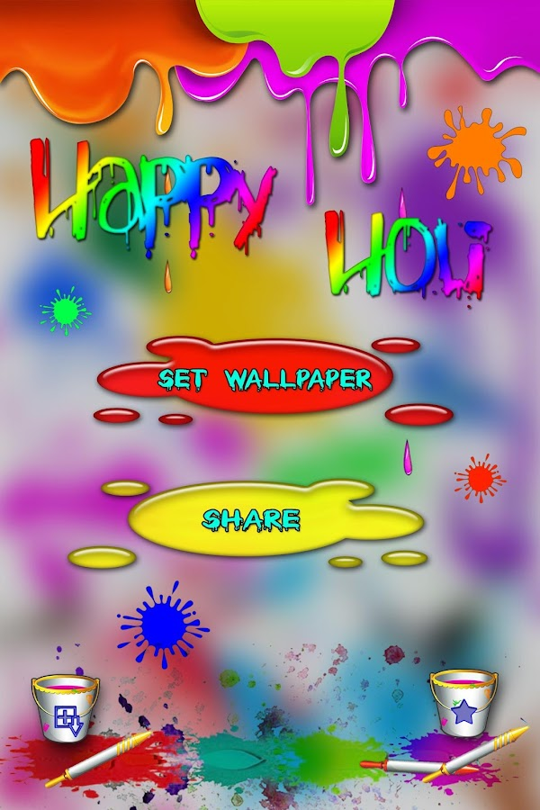 Happy holi live wallpaper android apps on google play for Holi decorations at home