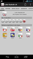 Screenshot of Lottery Statistics UK