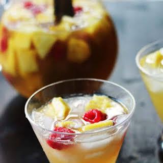 Pineapple, Raspberry and Peach Sangria Blanca.