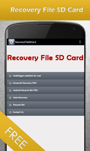 文件恢復SD卡